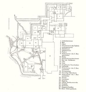 Plan of Katsura Imperial Villa, Kyoto 1589-1643