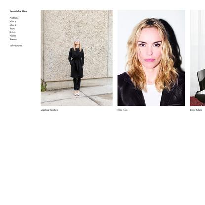 Franziska Sinn | Photographer based in Berlin, Germany