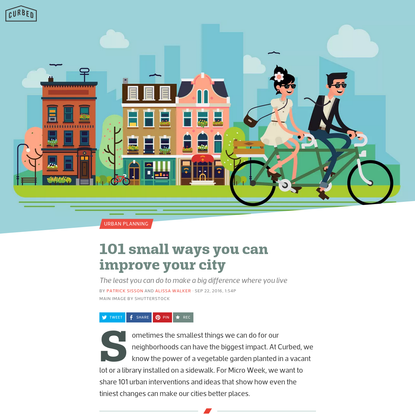 101 small ways you can improve your city