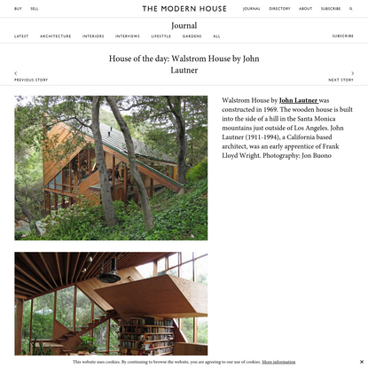 House of the day: Walstrom House by John Lautner   Journal   The Modern House