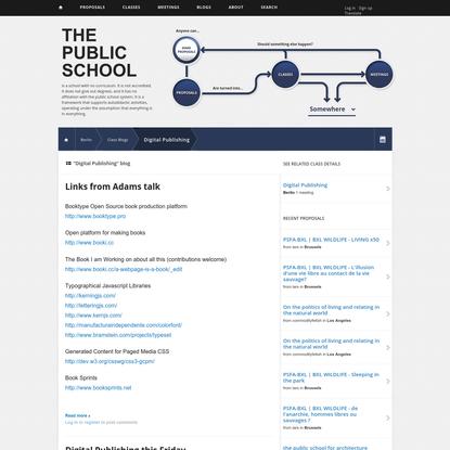 """""""Digital Publishing"""" blog   The Public School"""