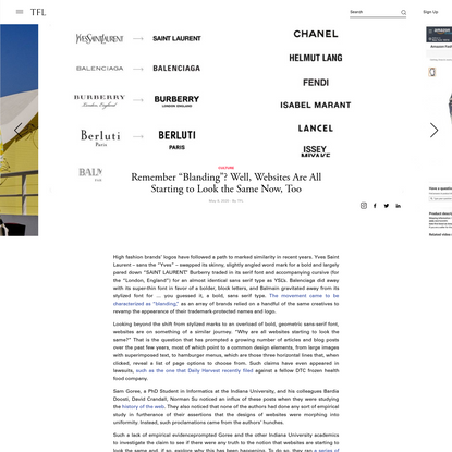 "Remember ""Blanding""? Well, Websites Are All Starting to Look the Same Now, Too 