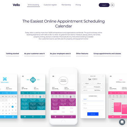 Vello | Free Online Appointment Scheduling Calendar Service