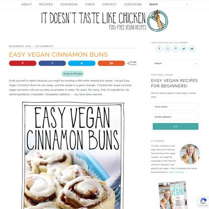 Easy Vegan Cinnamon Buns