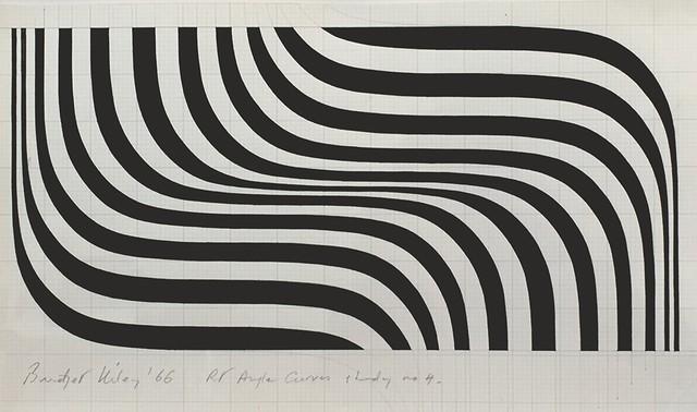 Bridget Riley - Right Angle Curves Study No.4, 1966