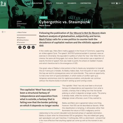 Cybergothic vs. Steampunk - Urbanomic
