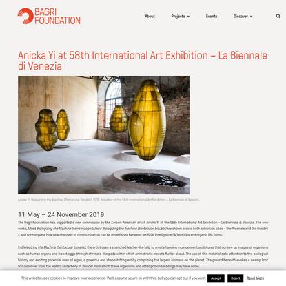 Anicka Yi at 58th International Art Exhibition - La Biennale di Venezia - Bagri Foundation - celebrating Arts and Ideas from...