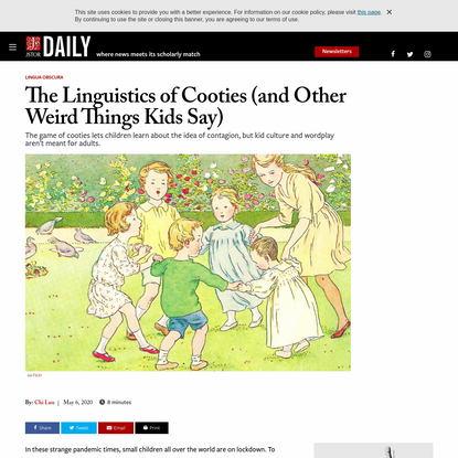 The Linguistics of Cooties (and Other Weird Things Kids Say) | JSTOR Daily