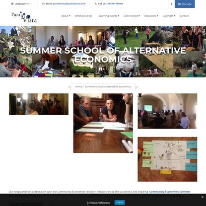 Summer school of alternative economics