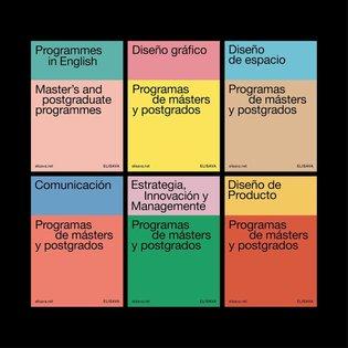 Brochure for Master and Postgraduate programmes of @elisavabcn (3/3). Designed by @lorengarciort and @attassa. #layout #type...