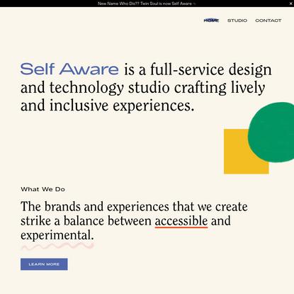 Self Aware - Creative Studio