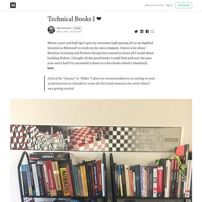 Technical Books I ❤️ - Mark Saroufim - Medium