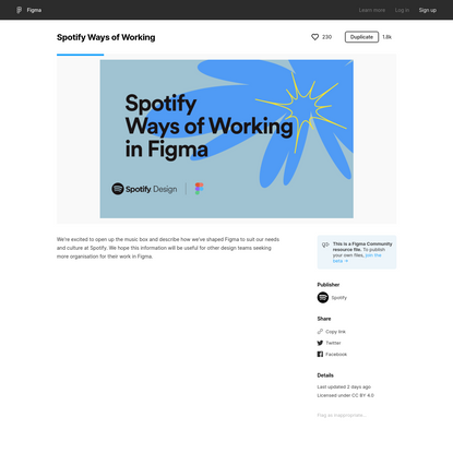 Figma - Spotify Ways of Working | We're excited to open up the music box and describe how we've shaped Figma to suit our nee...