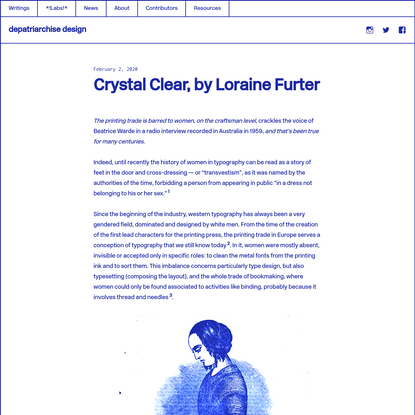 Crystal Clear, by Loraine Furter
