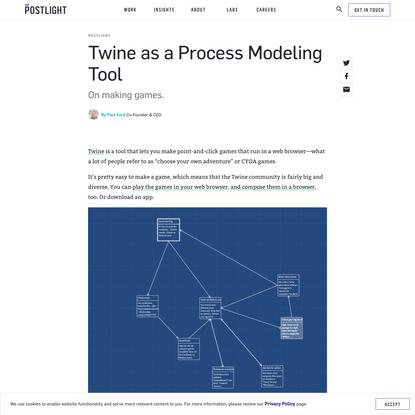 Twine as a Process Modeling Tool - Postlight - Digital Product Studio