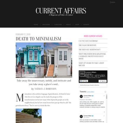 Death To Minimalism | Current Affairs
