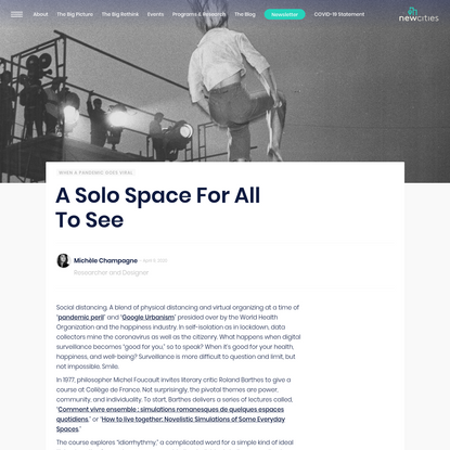 A Solo Space For All To See - NewCities