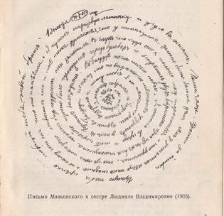 Vladimir Mayakovsky, A Letter written to his sister Ludmila, 1905