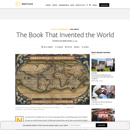 The Book That Invented the World - Facts So Romantic - Nautilus
