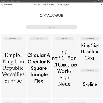 Swiss Typefaces
