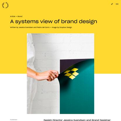 A systems view of brand design | Dropbox Design