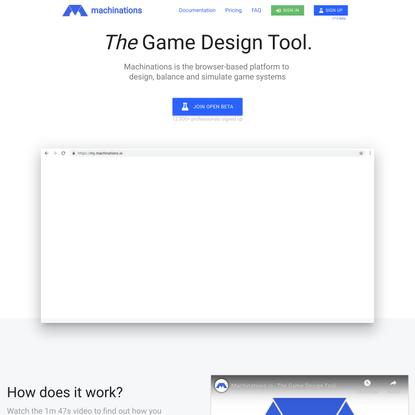 Machinations.io - The Game Design Tool.