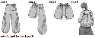 UFO pants transformation