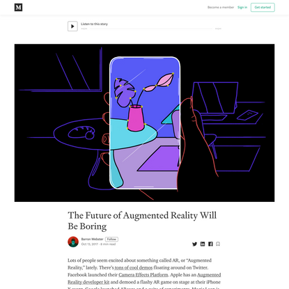 The Future of Augmented Reality Will Be Boring