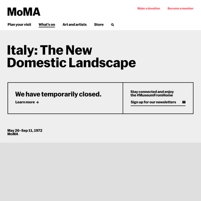 Italy: The New Domestic Landscape | MoMA
