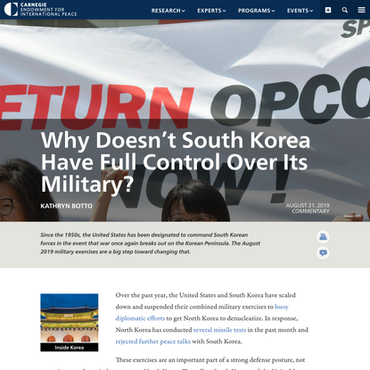 Why Doesn't South Korea Have Full Control Over Its Military?