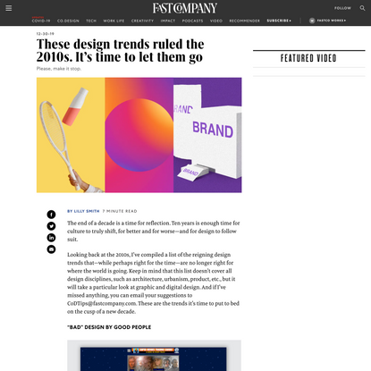 These design trends ruled the 2010s. It's time to let them go