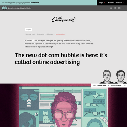 The new dot com bubble is here: it's called online advertising