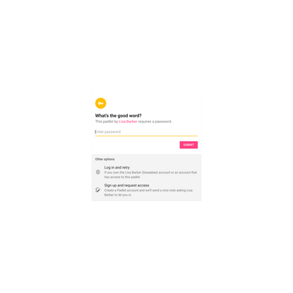 Password protected padlet