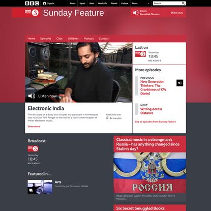 BBC Radio 3 - Sunday Feature, Electronic India