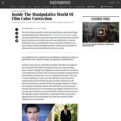 Inside The Manipulative World Of Film Color Correction