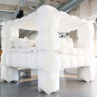 set your slack status to away Jan Pieter Kaptein's Fort Folly - built out of 200 pillows. 2006. ⠀⠀⠀⠀⠀⠀⠀⠀⠀