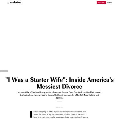 Elon Musk's First Wife Justine Musk Talks Their Messy Divorce