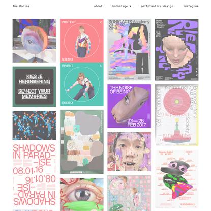 The Rodina — graphic design, technology, performative design