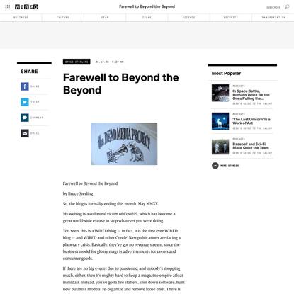 Farewell to Beyond the Beyond