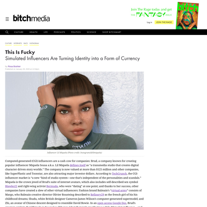 Lil Miquela Is a Queer Woman of Color. Too Bad She Isn't Real.
