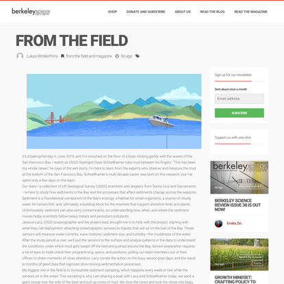 From the field - The Berkeley Science Review