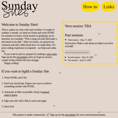 Sunday Sites