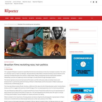 Brazilian films revisiting race, hair politics | The Reporter Ethiopia English
