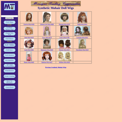 Monique Trading Corp. - Doll Wigs & Doll Making Accessories