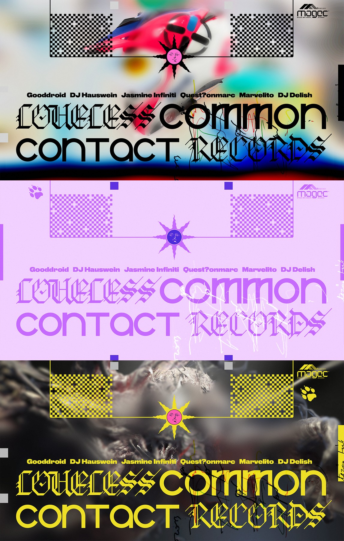 Loveless Records x Common Contact flyer (2019) - Nufolklore