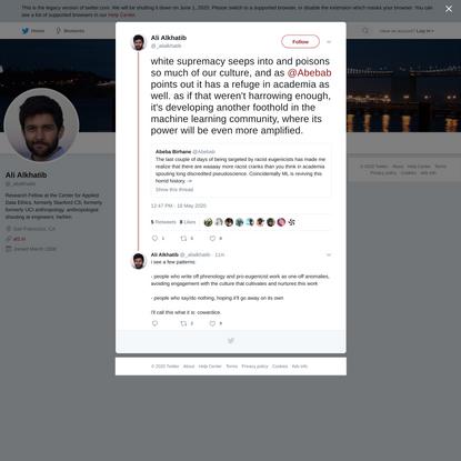 Ali Alkhatib on Twitter