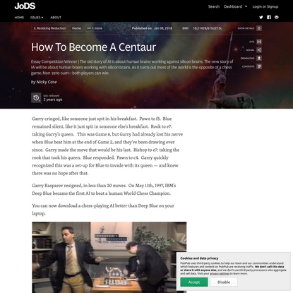 How To Become A Centaur · Journal of Design and Science