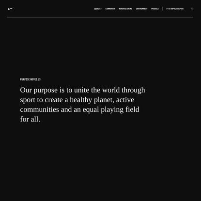 Nike Purpose: Purpose Moves Us