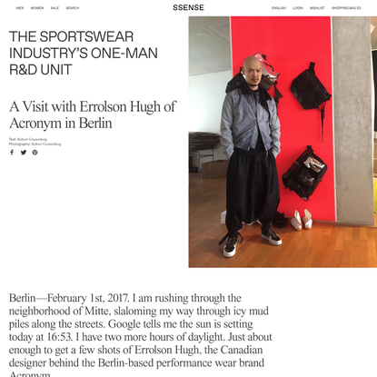 The Sportswear Industry's One-Man R&D Unit