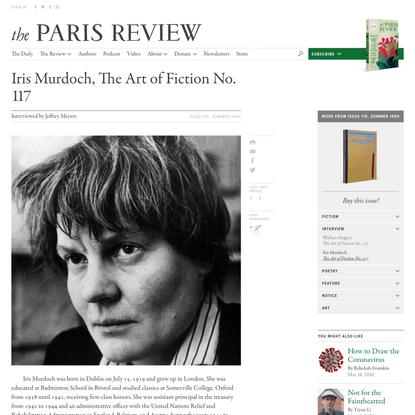 <a href='/authors/4085/iris-murdoch'>Iris Murdoch</a>, The Art of Fiction No. 117
